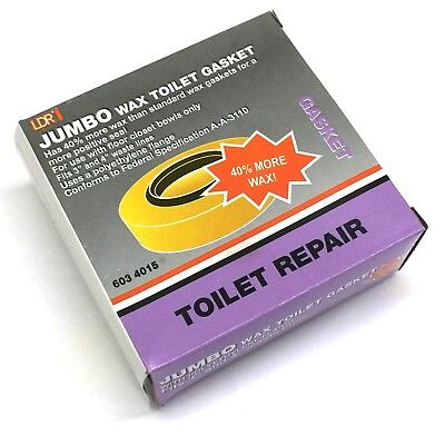 - LDR, JUMBO Wax Toilet Gasket Repair With Polyethylene Flange Fits 3'' and 4''