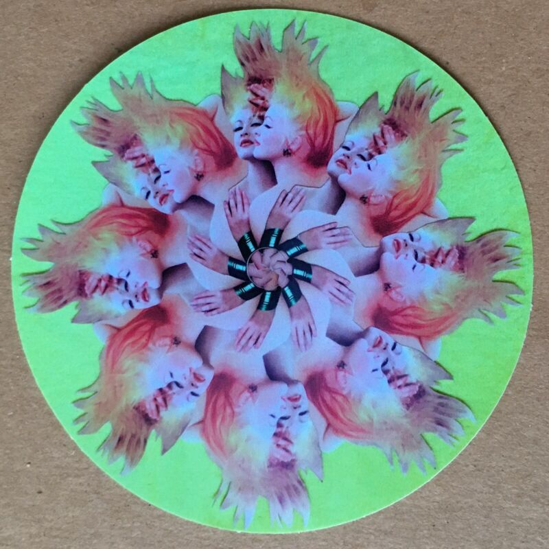 """Cyndi Lauper Decal Sticker With Optional Spindle Hole To Fit 12"""" or LP"""