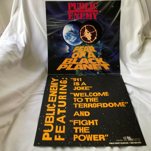 PUBLIC ENEMY Fear of a Black Planet 2-sided 12 x 12 Promo LP Flat / Poster -RARE
