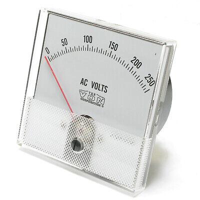 Panaview Analog Panel Meter 0 - 250 Volt Ac 3 Inch