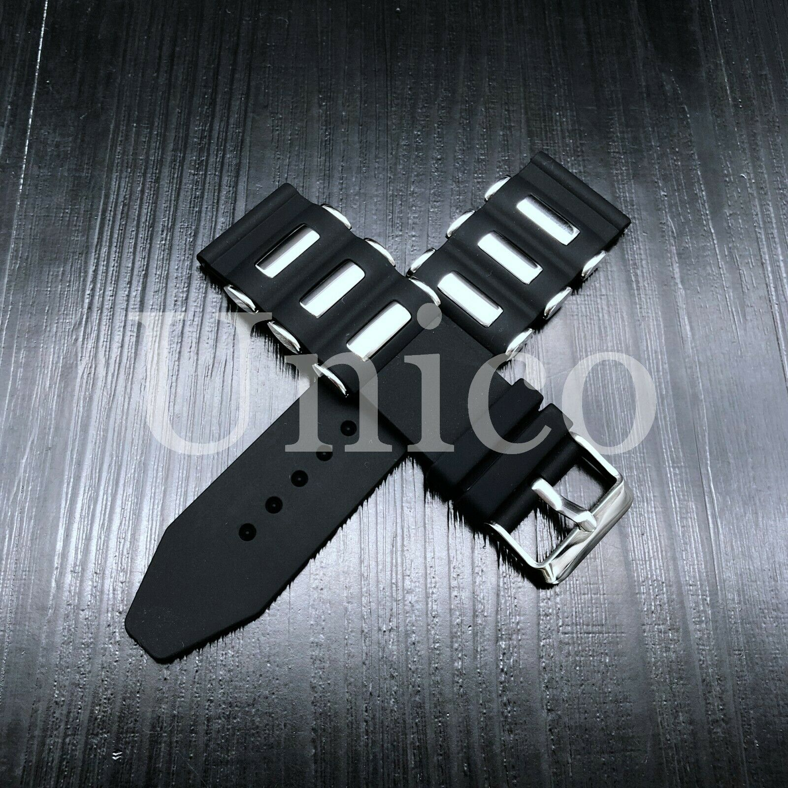 26mm russian diver silicon rubber watch band