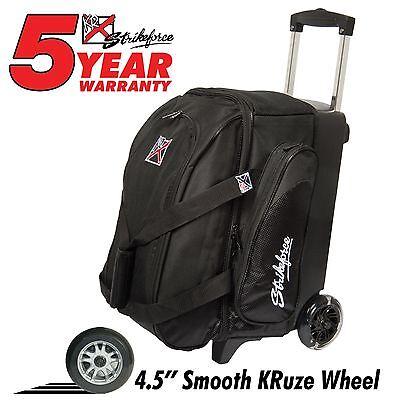 KR Strikeforce Cruiser Smooth Double Roller 2 Ball Bowling Bag Black
