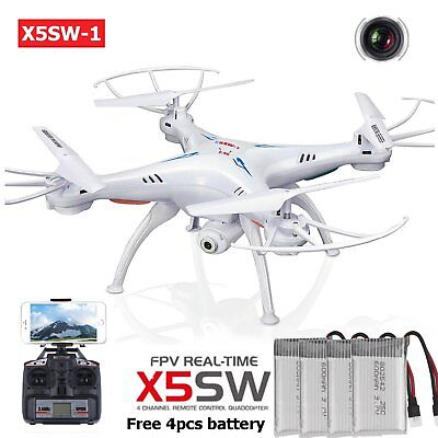X5SW-1 Wifi FPV Explorers 2.4G 4CH RC Quadcopter Drone HD Camera UFO W/ Batt BT