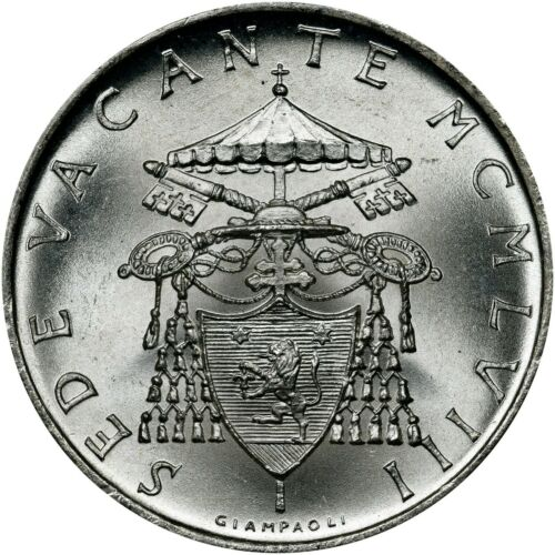 VATICAN CITY 1963 SILVER 500 LIRE GEM++ UNCIRCULATED UNC