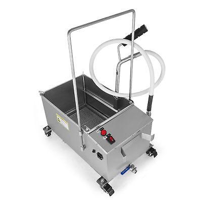 40lstainless Steel Fryer Oil Filter Machine Commercial Oil Filtration System110v