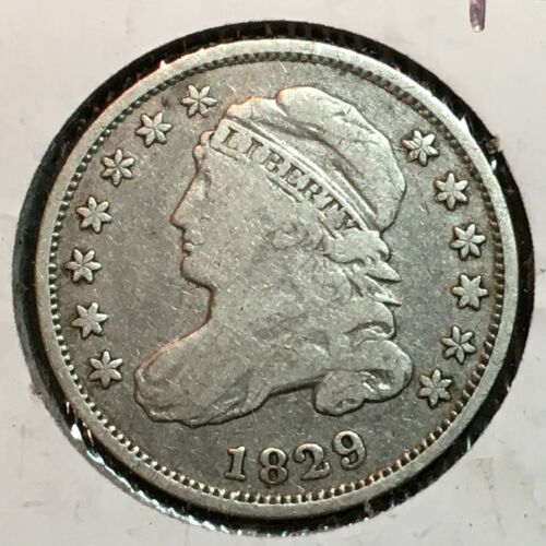 1829   Fine+   Capped Bust Dime  Nice Coin  #2