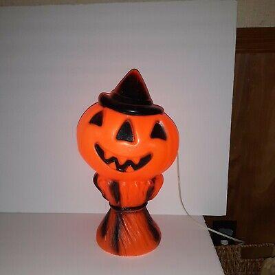 "Vintage Empire Blow Mold Halloween Pumpkin 16"""