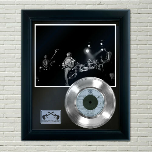"Dire Straits ""Sultans Of Swing"" Silver Framed Record Display"