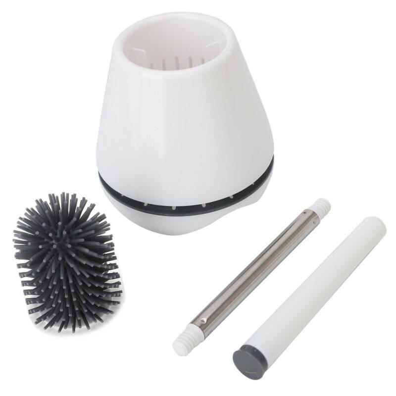 Toilettenbürste+Basis Halter Antibakterielle Klobürste WC Bürste Brush Halter.