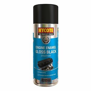 Hycote Engine Enamel Gloss Black Spray Paint 400ml Aerosol