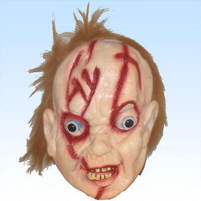 ten Haaren Horrormaske Puppe Gruselmaske Halloween Fasching (Puppe Halloween Haar)