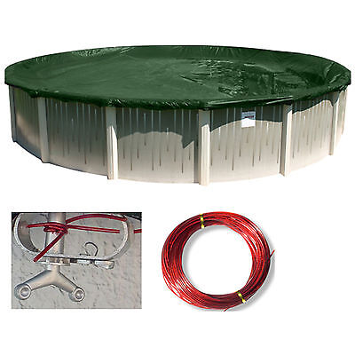 Above Ground Round Ripstopper Swimming Pool Winter Cover   15 Year Warranty