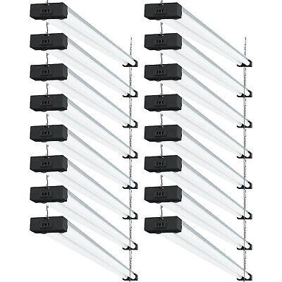 Sunco 16 Pack Industrial LED Shop Light Frosted 40W 6000K 4000lm Plug-in Garage