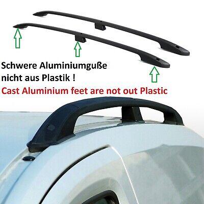 Fiat Talento L2 Baujahr ab 2016 Aluminium Dachrelinge Dachträger in schwarz