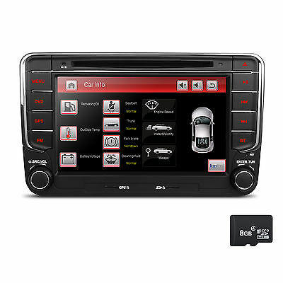 AUTORADIO für VW T5 MP3 Seat Skoda Passat Golf Bluetooth NAVIGATION GPS DVD USB