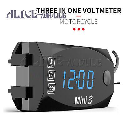 Motorcycle Digital Voltmeter Led Display Waterproof Voltage Tester Moniter Gauge