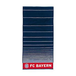 FC Bayern München Badetuch gestreift navy Gr. 90 x 180 cm  2016/17 BRANDNEU !