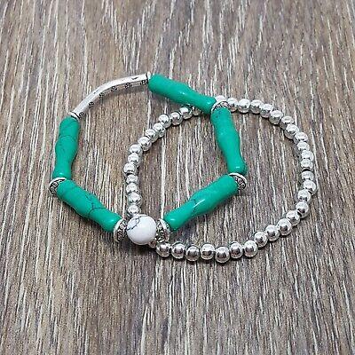 - Distance Bracelet Antique Silver Couple Friendship Set,Charm Beaded Gift Bag