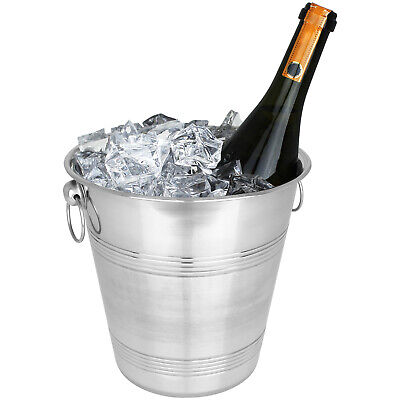Sektkühler Eiskübel Eiseimer Flaschenkühler Champagner Wein Eis Kühler Edelstahl