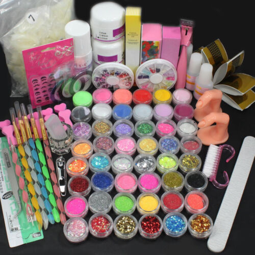 Nail Art Tool Set Acrylic Liquid Powder Brush Buffer Glitter
