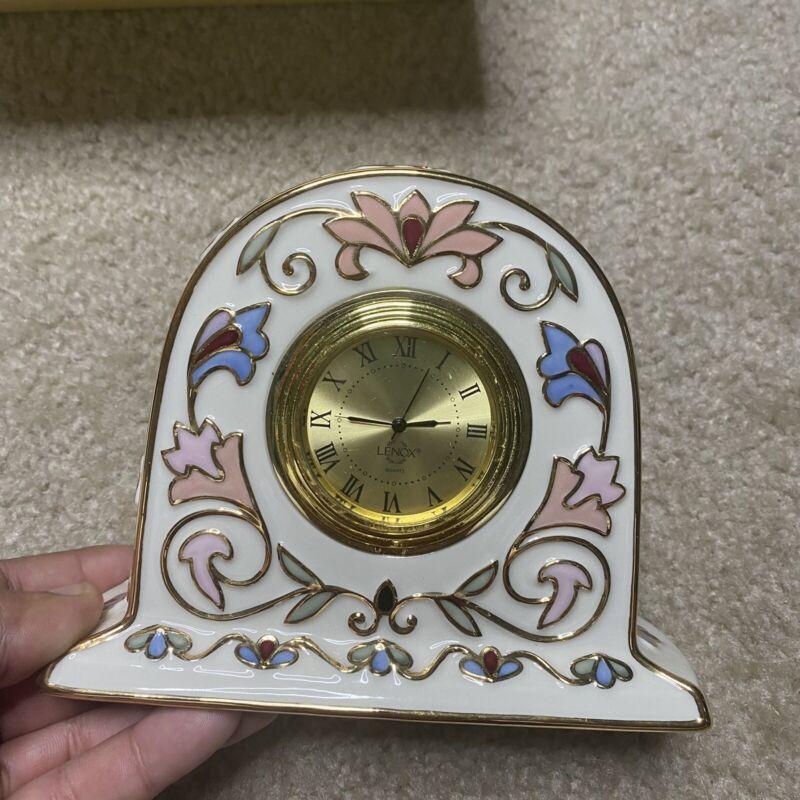 LENOX CLOCK Guilded Garden NEW IN BOX SKU 789817 RARE BEAUTIFUL