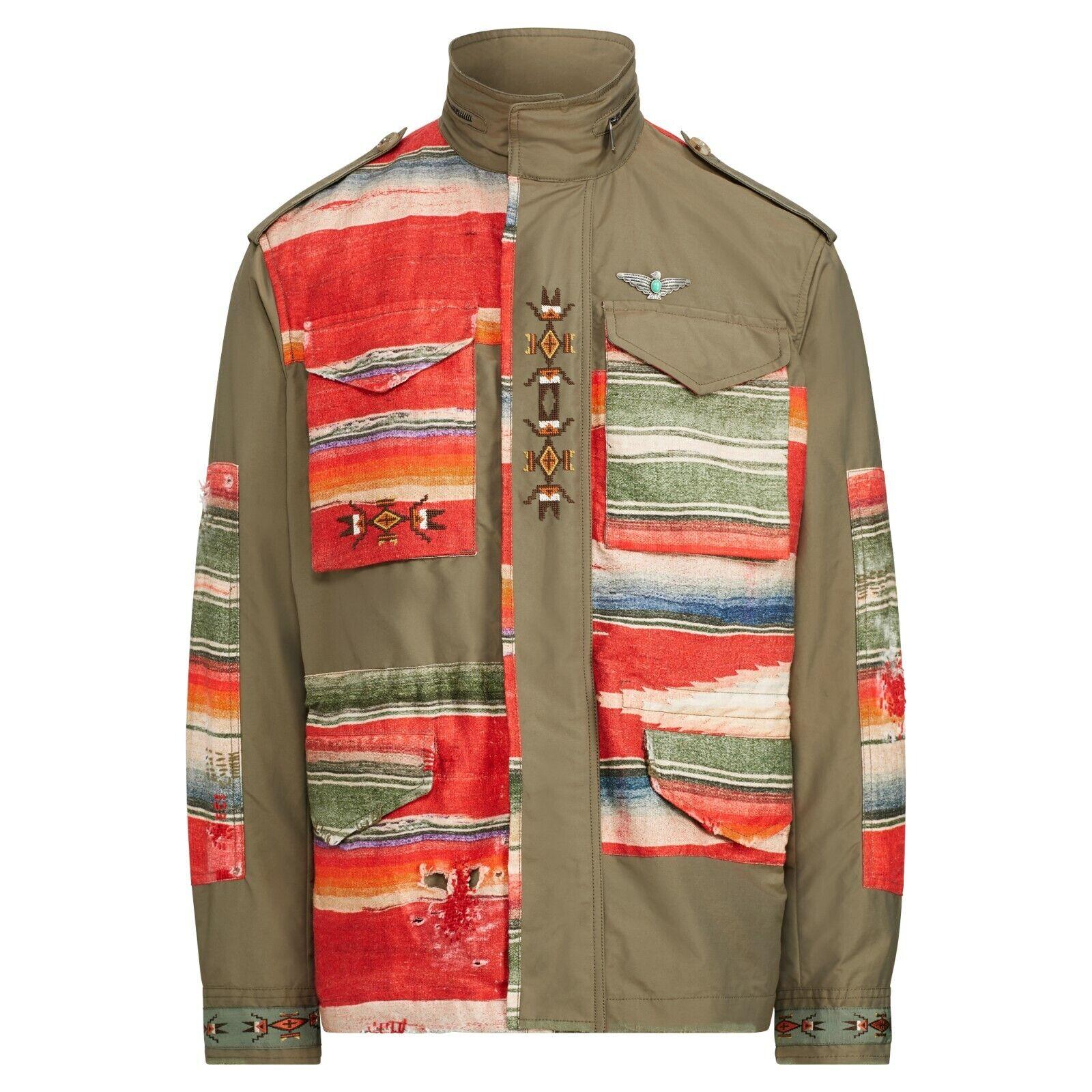 2495-polo-ralph-lauren-mens-southwestern-indian-aztec-field-jacket-italy-xl