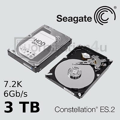 "NEU 3TB Seagate Constellation ES.2 SED Hard Drive SATA 3,5"" 7200U/min 3000GB HDD"