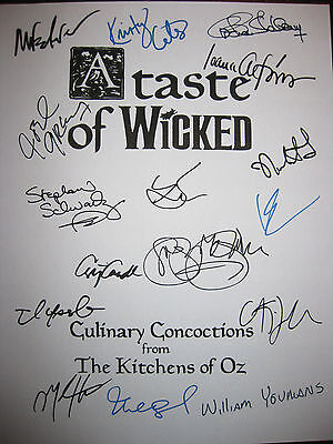 Wicked Signed Broadway Musical Cookbook X16 Menzel Chenoweth Recepies reprint
