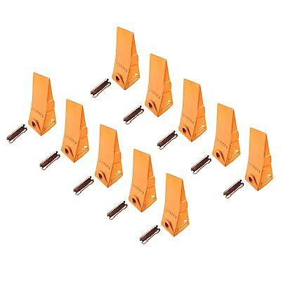 10 - Bobcat Style Mini Excavator Skid Steer Bucket Teeth W Pins - 6737325