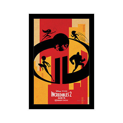 THE INCREDIBLES 2 - 11x17 Framed Movie Poster by