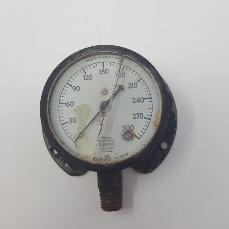Vintage Antique U.S. Gauge Co. N.Y. Hydraulic Gauge Industrial Steampunk