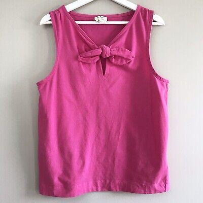Kate Spade Pomona women pink bow tank top XL knot sleeveless pullover stretch