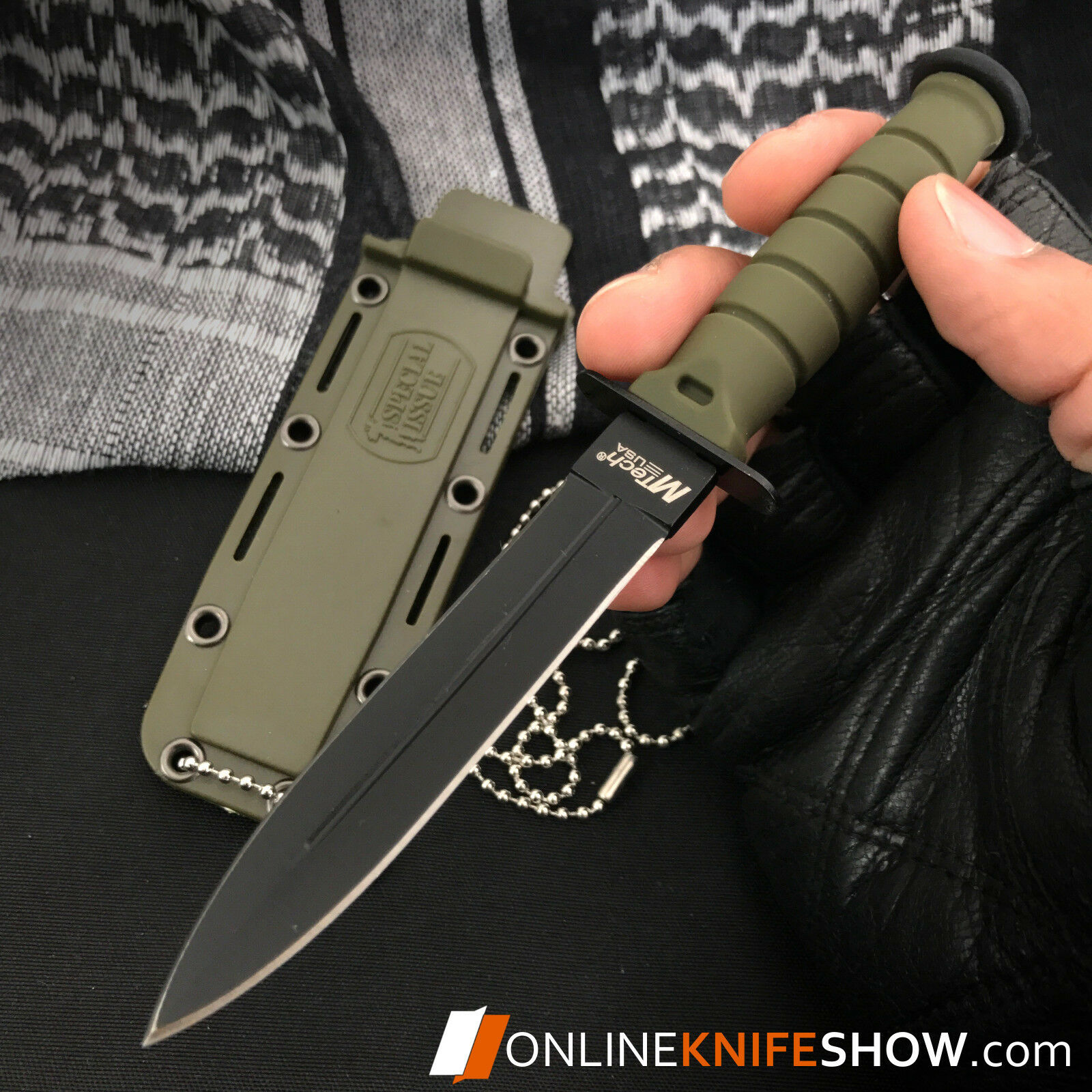 "6"" TACTICAL COMBAT SURVIVAL Army Spear HUNTING KNIFE Bowie Military Fixed Blade"