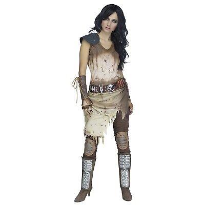 Women's Apocalypse Wasteland Warrior Costume Mad Max Octavia Blake Halloween - Mad Max Female Costume