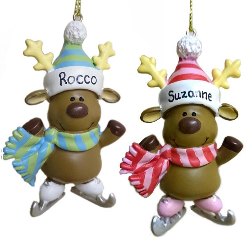 Christmas reindeer ebay for Personalised christmas decorations