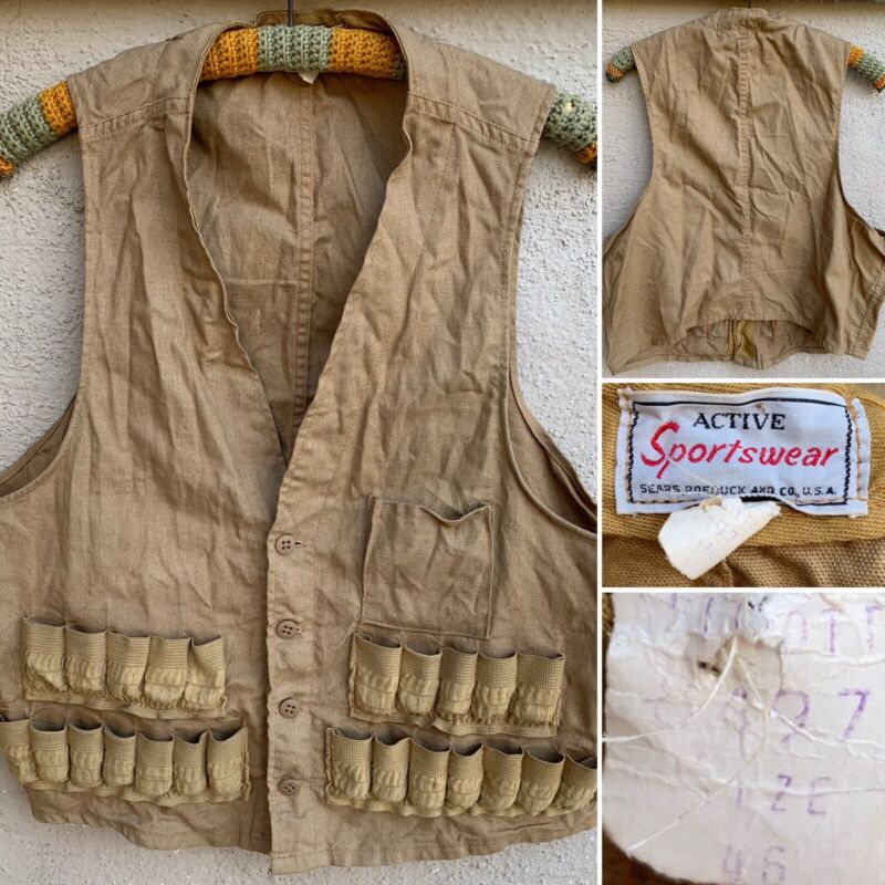 Vintage Active Sportswear Hunting Vest Sears Roebuck And Co USA 46