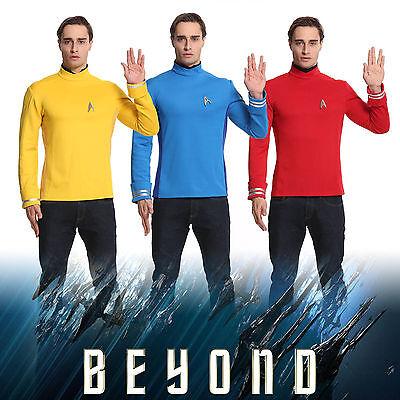 Star Trek Costume Cosplay Beyond Captain Kirk Spock Uniform Halloween Party  - Star Trek Halloween Party