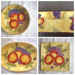 Tuscan Garden Maxwell Williams Serving Platters x 4 THE LOT $20 Butler Wanneroo Area Preview