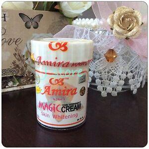1 Real AMIRA Magic Cream Prevent Freckles Dark Spots Skin Whitening KSA 60g