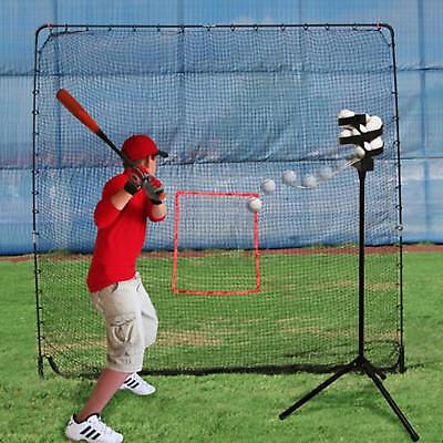 Baseball Soft Toss Machine (Trend Sports Heater Combo Baseball Soft Toss Machine & BigPlay Pitching Net)