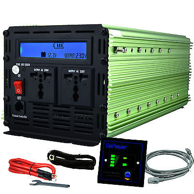 3000W 6000W 12V dc to  220V ac  Car truck Power Inverter LCD & cables & remote