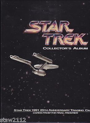 STAR TREK 1991 IMPEL 25TH ANNIVERSARY FACTORY MADE BINDER ONLY NO CARDS