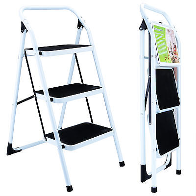 Portable Folding Step Ladder Non Slip Safety Tread Stepladder Kitchen Home Use