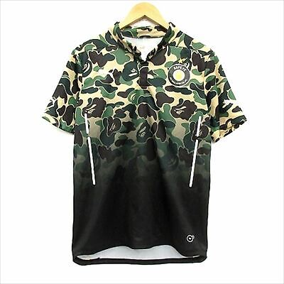 A bathing ape Bape Puma GAME SHIRTS cut-and-sew short sleeve camouflage size M