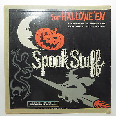 Vtg 1960 Spook Stuff for Halloween LP Record Haunting Spooky Sound - Halloween Spooky Stuff