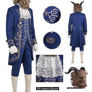 Bella-e-La-Bestia-Vestito-Costume-Carnevale-Uomo-Beauty-and-the-Beast-BEAST10