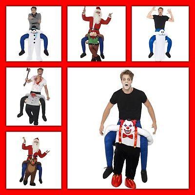 Huckepack - Geist Halloween Clown Kostüm