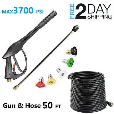 Yamatic High Pressure Washer Spray Gun50 Ft Hosewandlance5pack Nozzles Kit