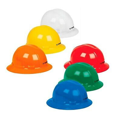Truper Full Wide Brim Safety Hard Hat Ratchet Suspension Construction Clase G