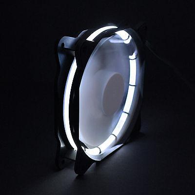 Led Case Fan (Sphere 120mm LED Ring Gehäuse Lüfter - 1200 rpm - Modding Case Fan - Weiß, White)